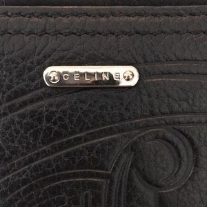 Celine Black Leather Ziparound Wallet